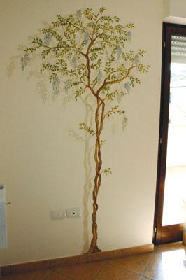 Decorazione murale - Stencil parete albero ...