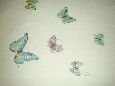 pittura su stoffa e vetro - Decorazioni Su Stoffa